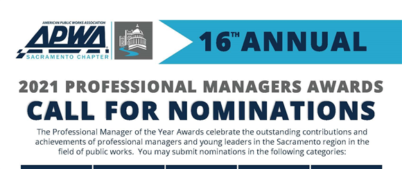 2021 Professional Managers of the Year - Call for Nominations